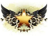 hvězda s ozdobné prvky