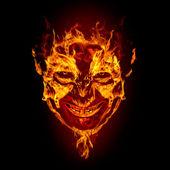 Fotografie oheň ďábel tvář