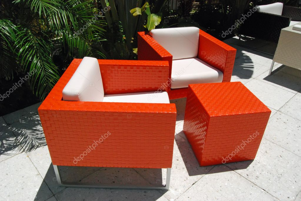 Modern Patio Furniture U2014 Stock Photo #4576362