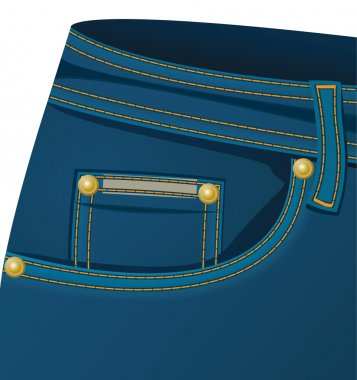 The front pocket of a jeans