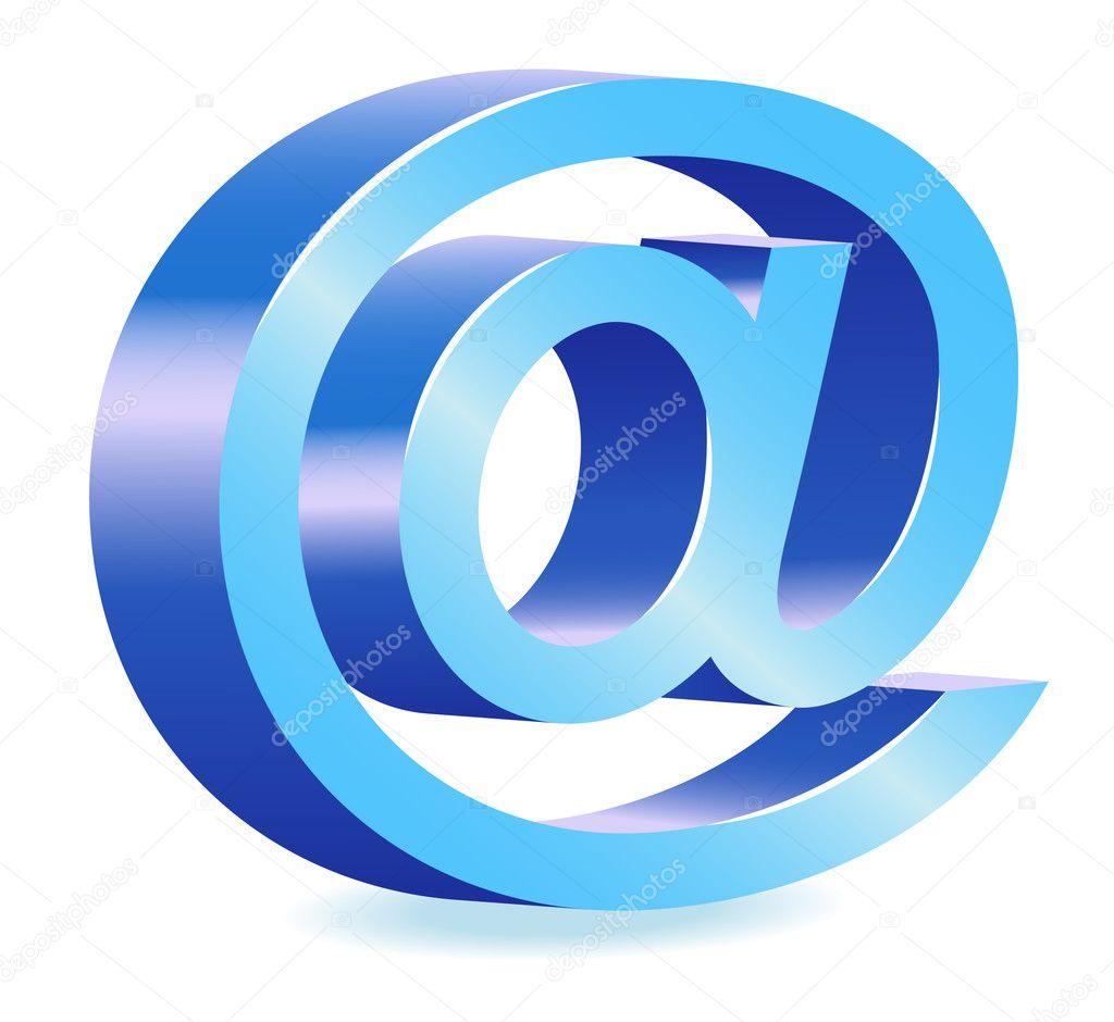 L'illustration bleue de symbole d'email d'Internet image ...