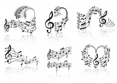 Music Note . Set.