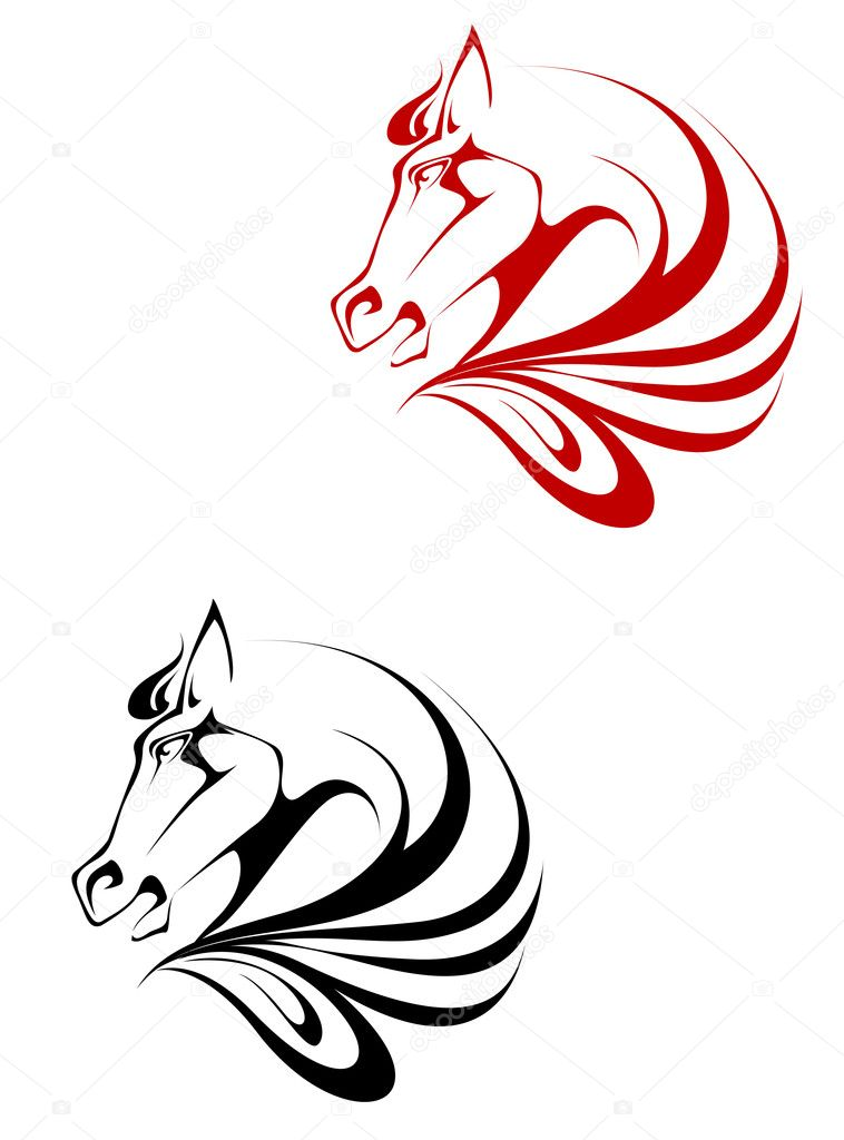 Horse Tattoo Stock Vector C Seamartini 3946141