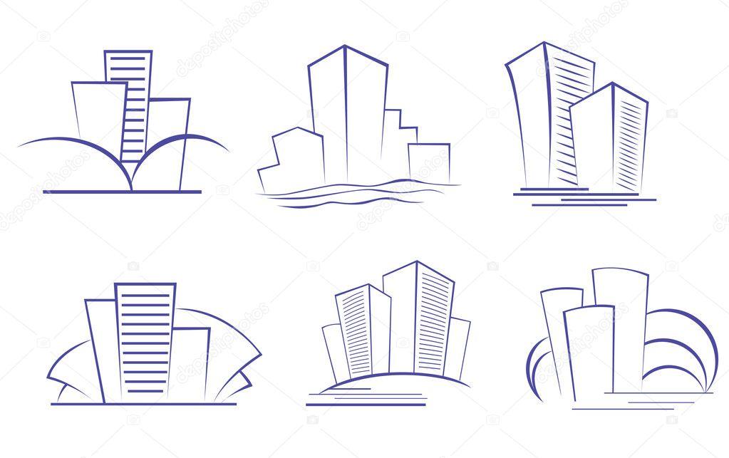 edificios del negocio moderno — Vector de stock © Seamartini #4650878