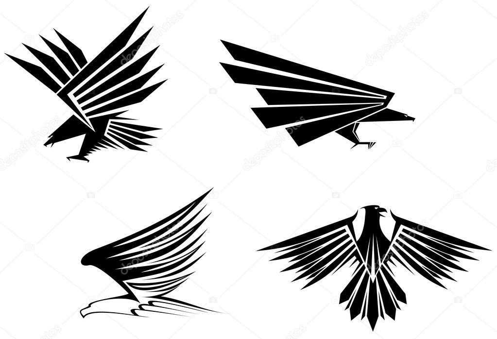 Eagle tattoos — Stock Vector © Seamartini #4651264