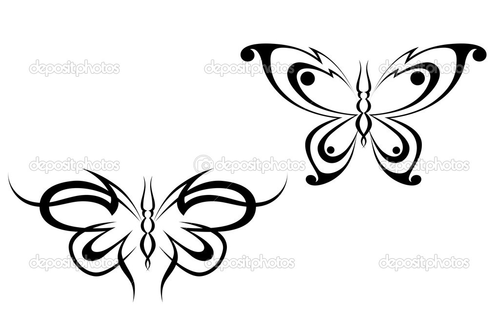 Tatuaż Motyl Grafika Wektorowa Seamartini 4657751