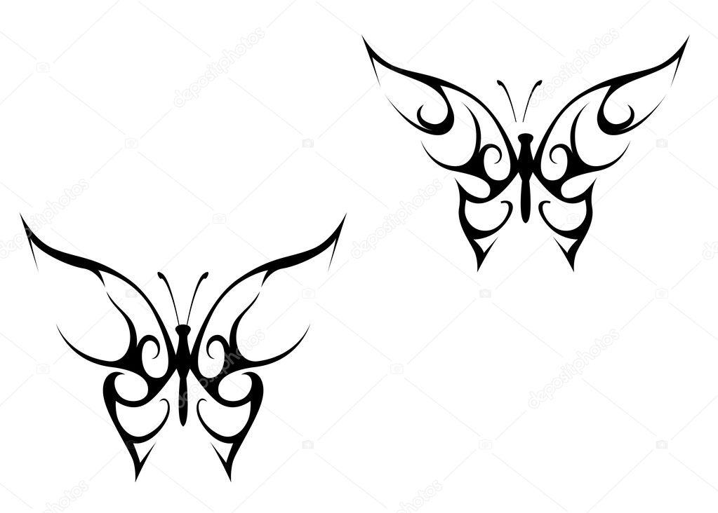 tatuaje de mariposa — Vector de stock © Seamartini #4657755