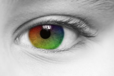 Rainbow Colored Childs Eye