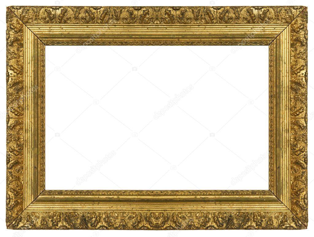 alte vintage gold bilderrahmen stockfoto hddigital 4052877. Black Bedroom Furniture Sets. Home Design Ideas