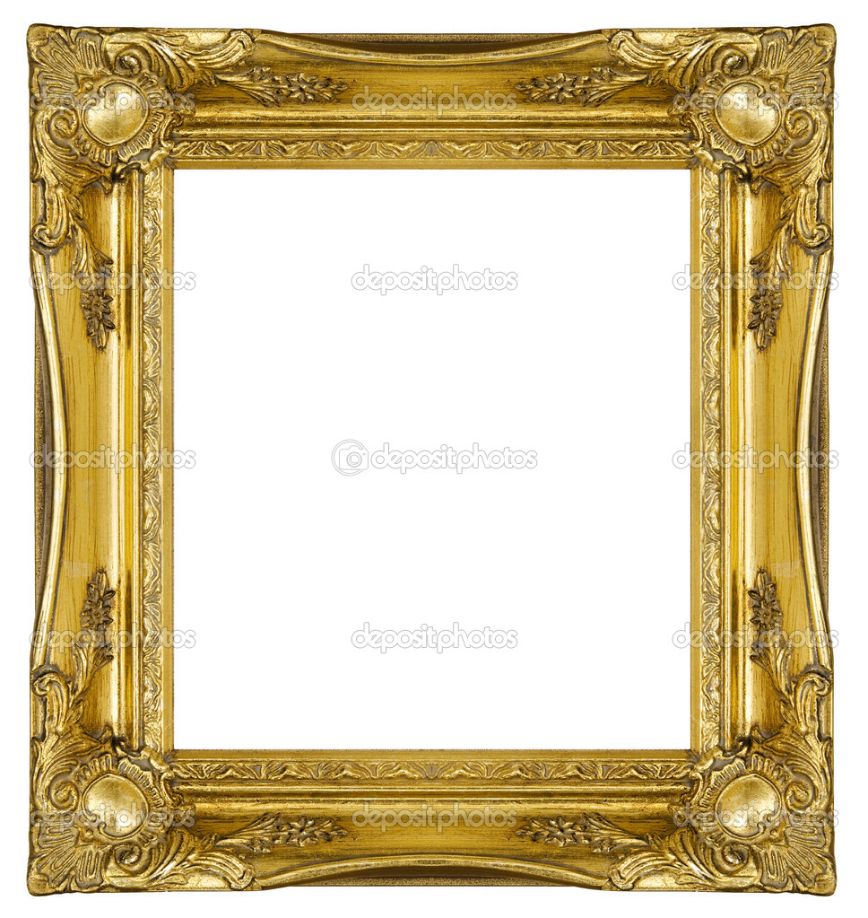 ornate gold frame stock photo 4052948