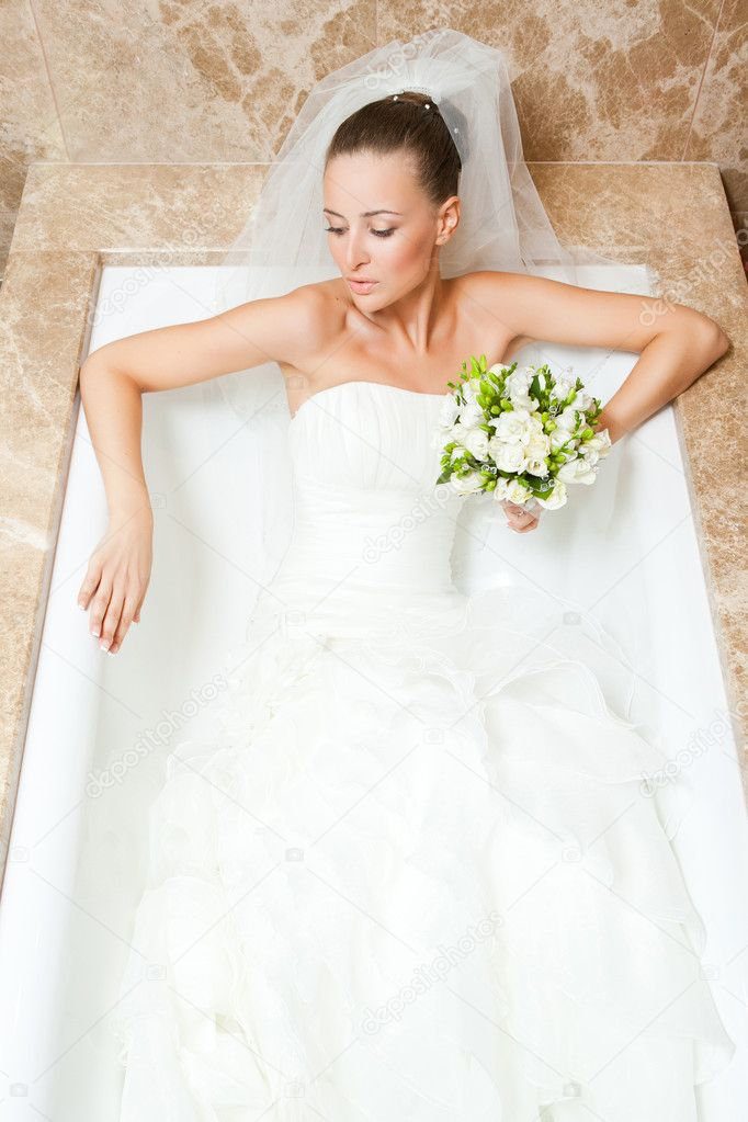 Bride in bath — Stock Photo © bibacomua #4736748