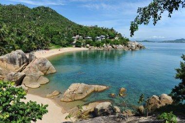 """Картина, постер, плакат, фотообои """"пляж ламай, остров самуи, таиланд постеры картины фото черно-белые"""", артикул 4299536"""
