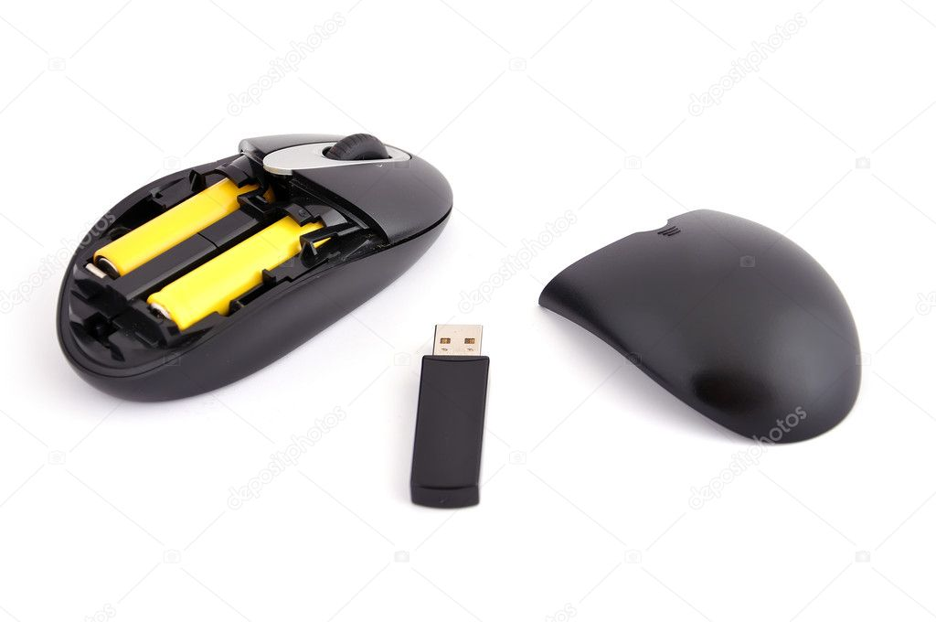 b602316e65b Wireless mouse on a white background — Photo by ...