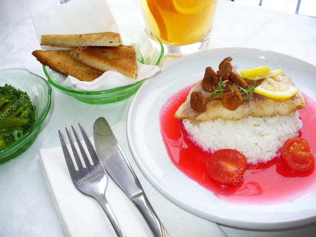 Блюдо из судака с рисом #3