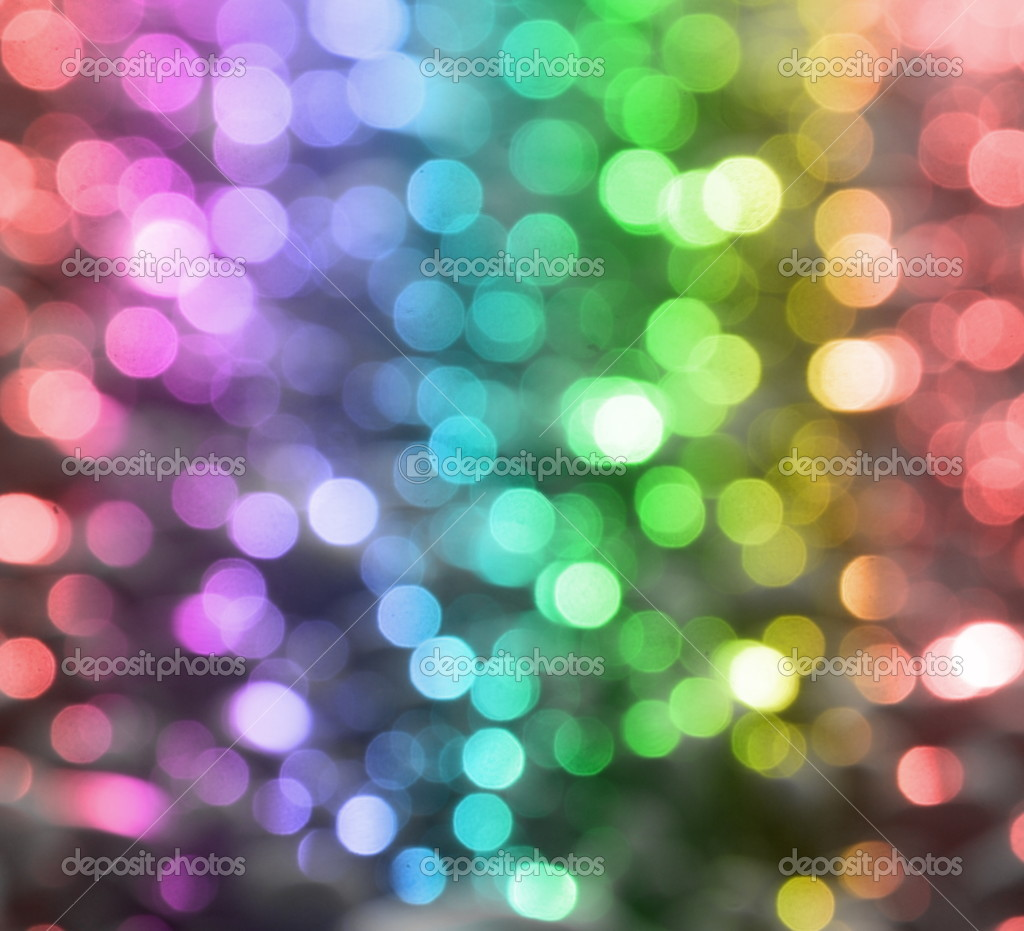 Background with colored circles with all colors of the rainbow.