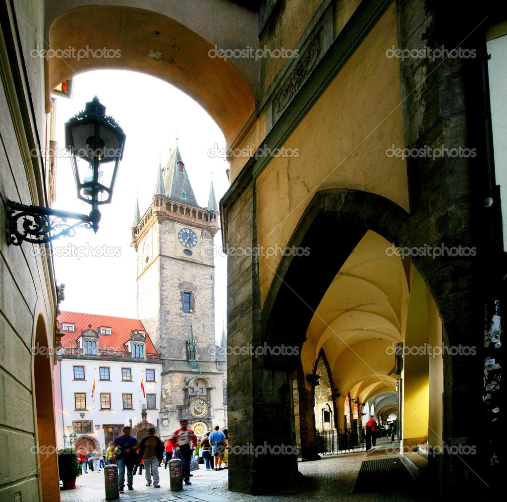 Prague. On stree of old town.