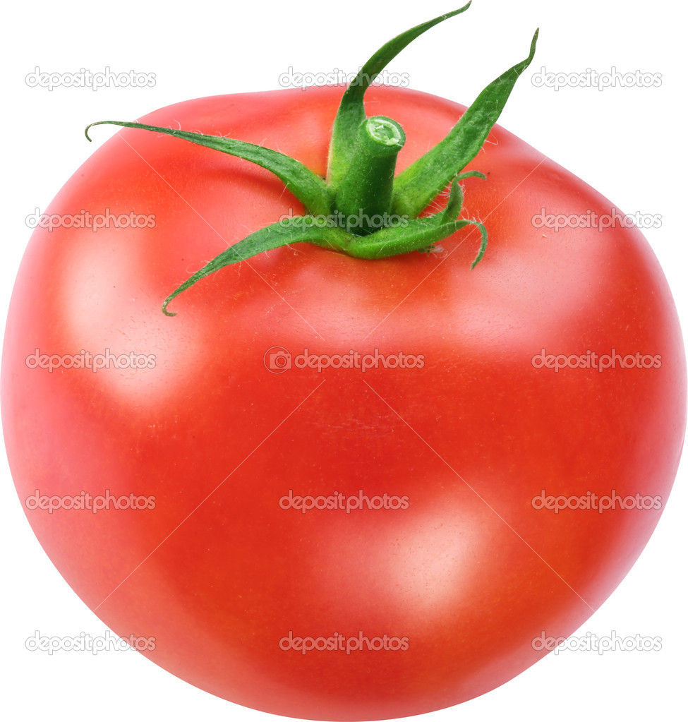 Image of tomato on white background. The file contains a path to
