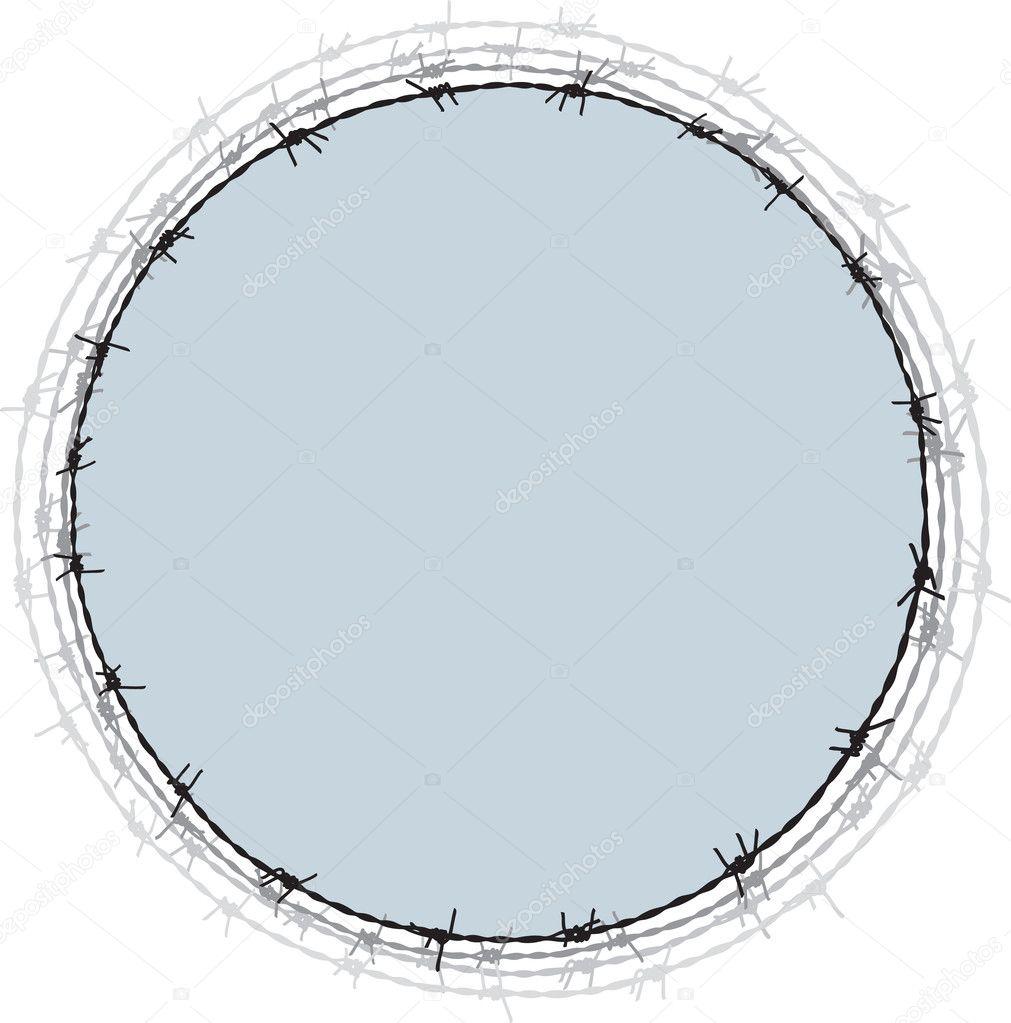 marco de alambre de púas — Vector de stock © fogbird #4153881
