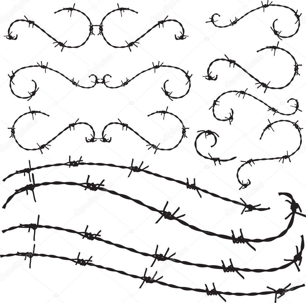 Barbwire ornament — Stock Vector © fogbird #4153887