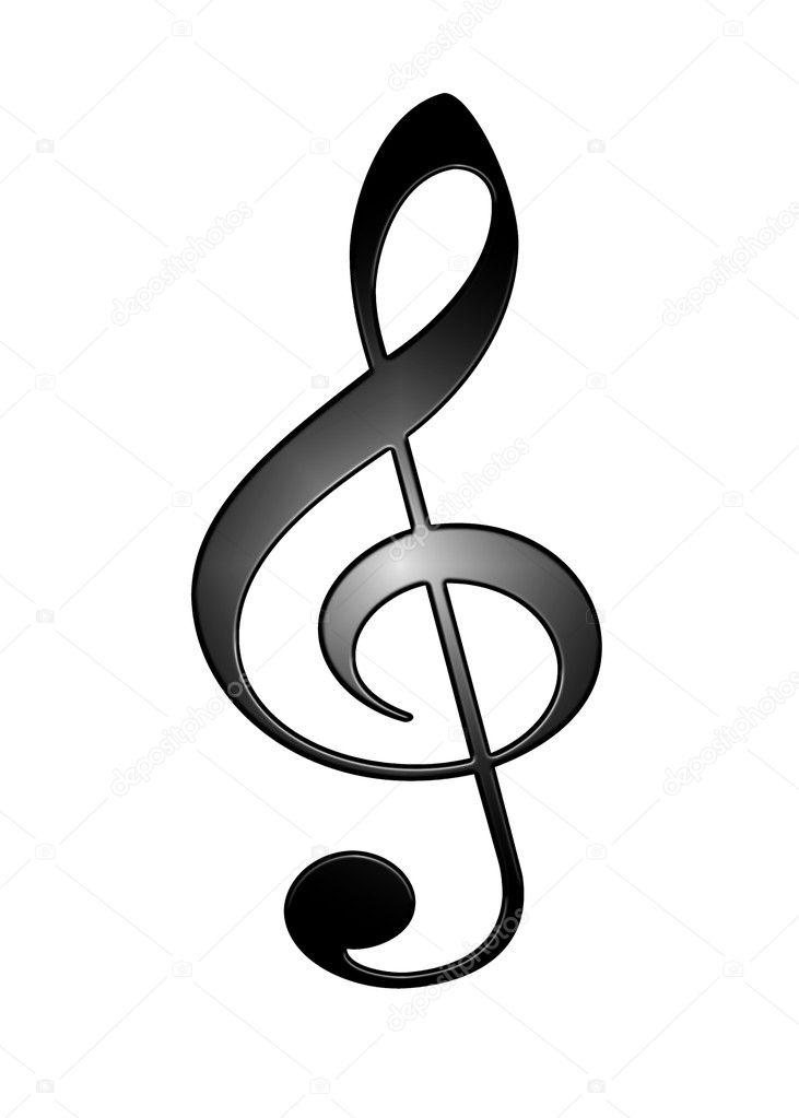 Рисунок скрипичный ключ