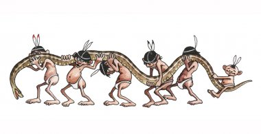 Indians bear the heaviest snake in the world an anaconda.