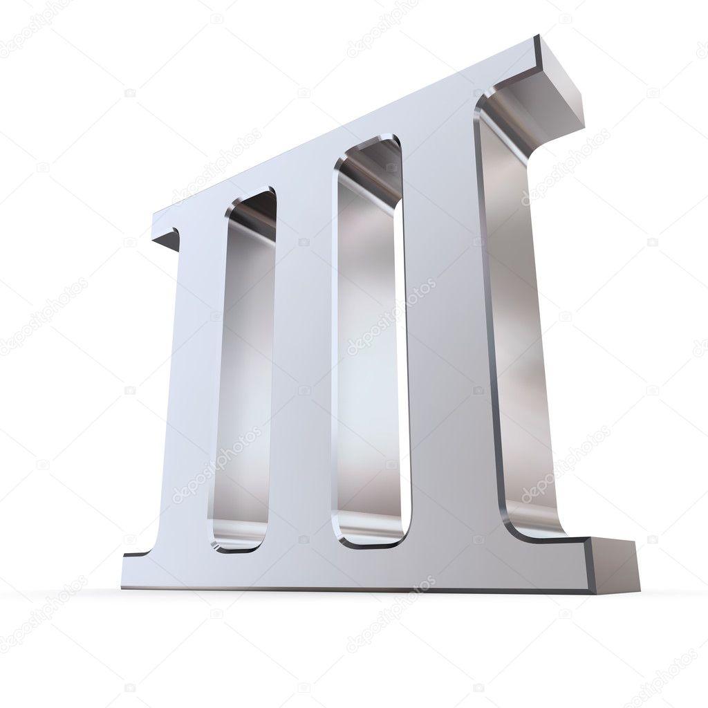 Worksheet Three In Roman Numeral metallic roman numeral 3 stock photo pixbox 4024549 4024549