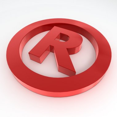 Red Shiny Registered Trademark Symbol