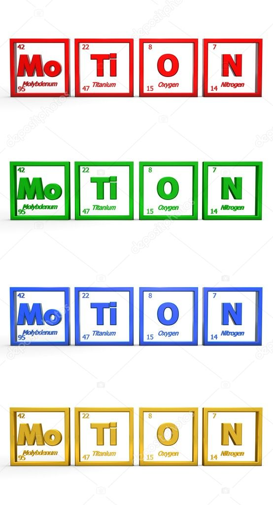 Chemical Symbol Word Motion Stock Photo Pixbox 4089899