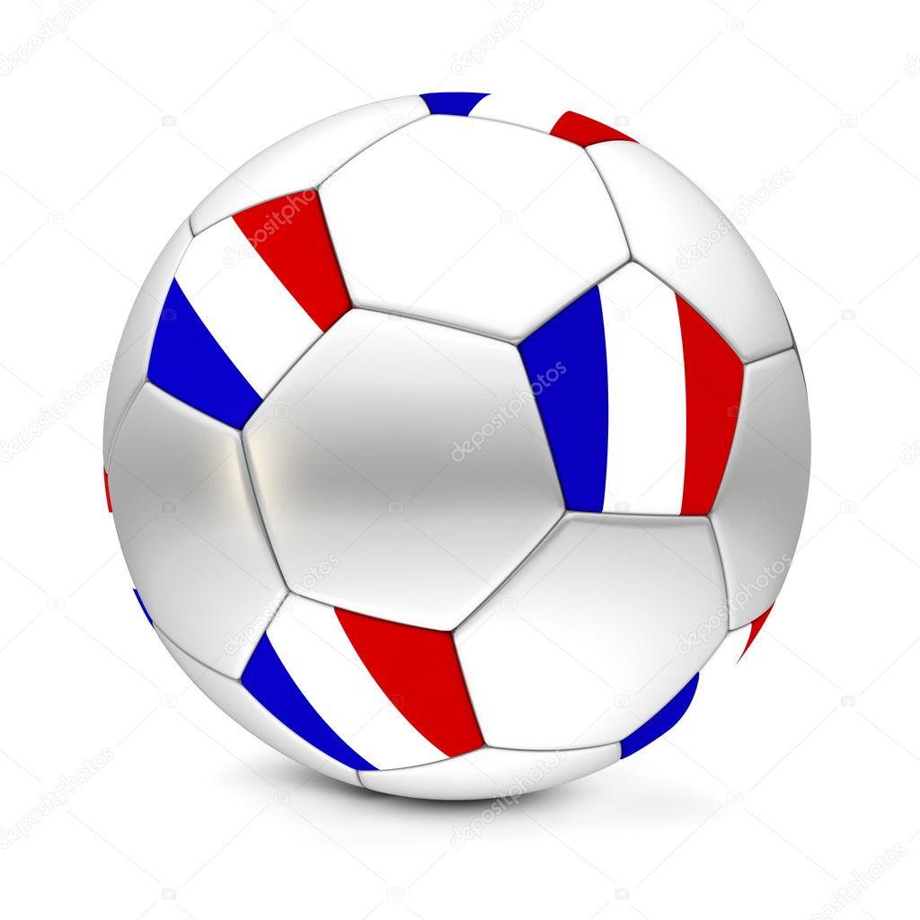 Блискучі футбол футбольний м яч з прапором Франції на п ятикутників — Фото  від PixBox. Знайти схожі зображення ac552ff5cbc65