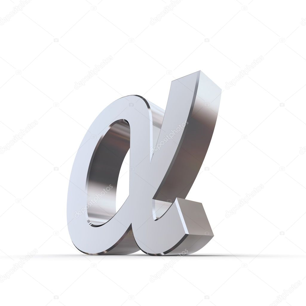 Shiny lower greek letter alpha stock photo pixbox 4898190 shiny lower greek letter alpha stock photo biocorpaavc Gallery