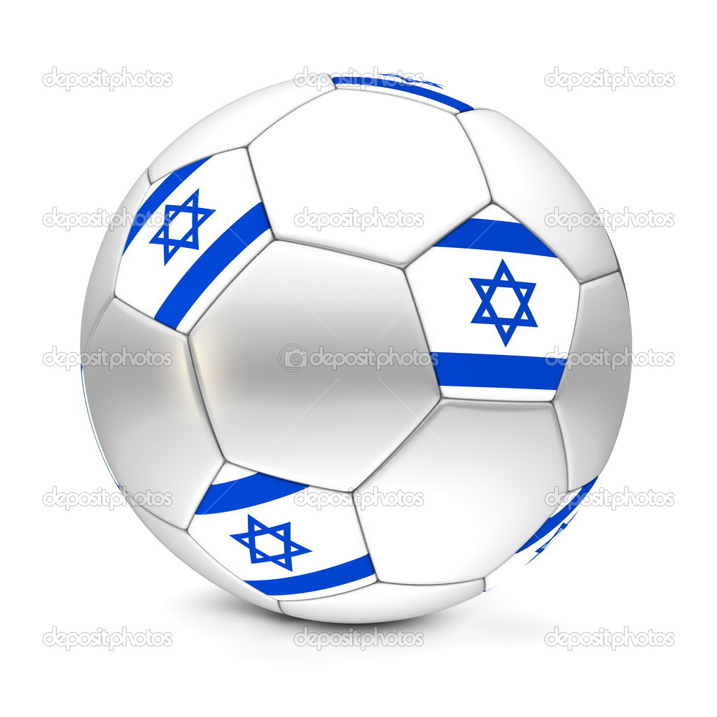 Блискучі футбол футбольний м яч з прапор Ізраїлю на п ятикутників — Фото  від PixBox. Знайти схожі зображення 5e4e7380e2fb8