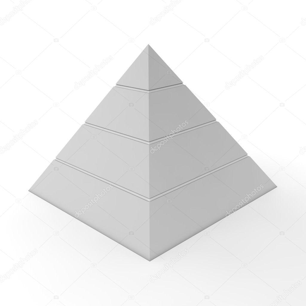 Plain Pyramid Chart - Four Levels — Stock Photo © PixBox #5059215