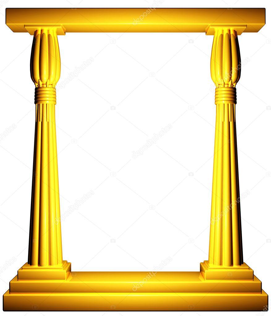 14f8a8c49b9e Egypt columns gold frame — Stock Photo © Petersim  4911546