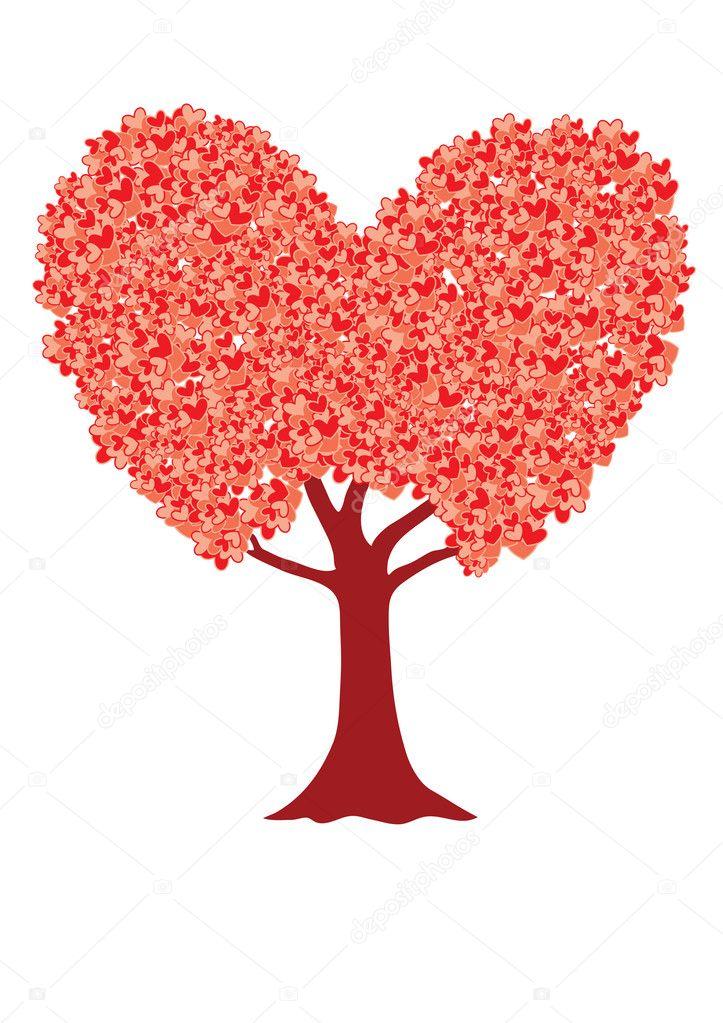árbol De Amor Vector De Stock Natkah 5141822