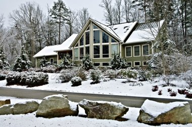 Large House in Winter