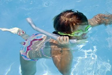 Young Girl Snorkling
