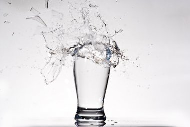 Exploding glass of water