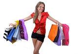 Beim Shopping posieren