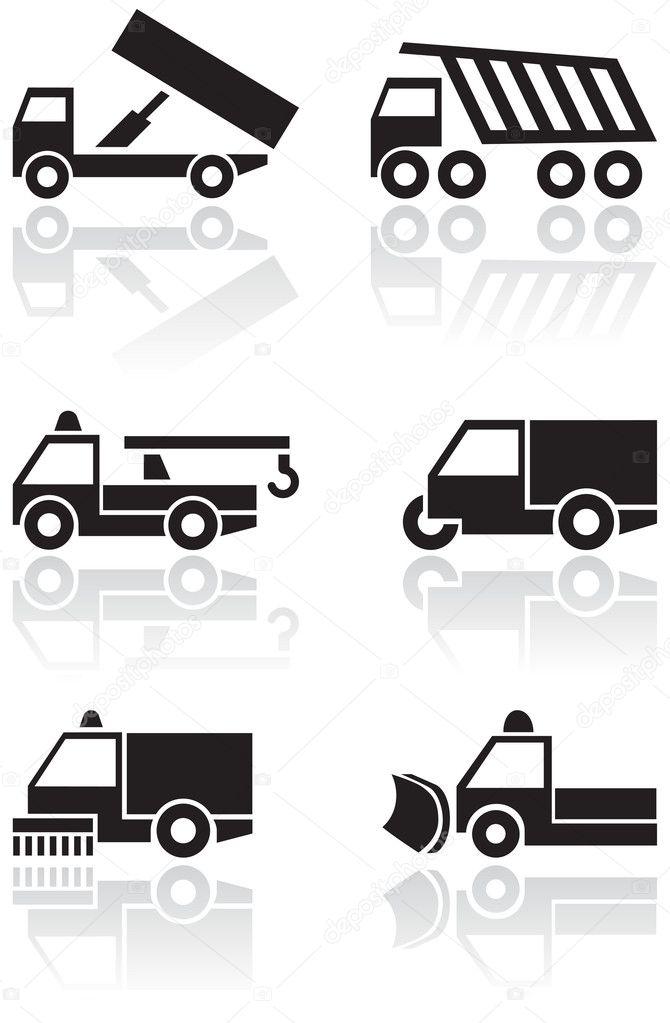 Truck or van symbol vector set. — Stock Vector © bytedust #4351424