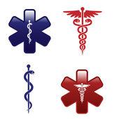 Medizinische Symbole gesetzt