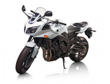 White motorcycle