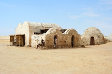 Abandoned decorations for shooting Star Wars movie