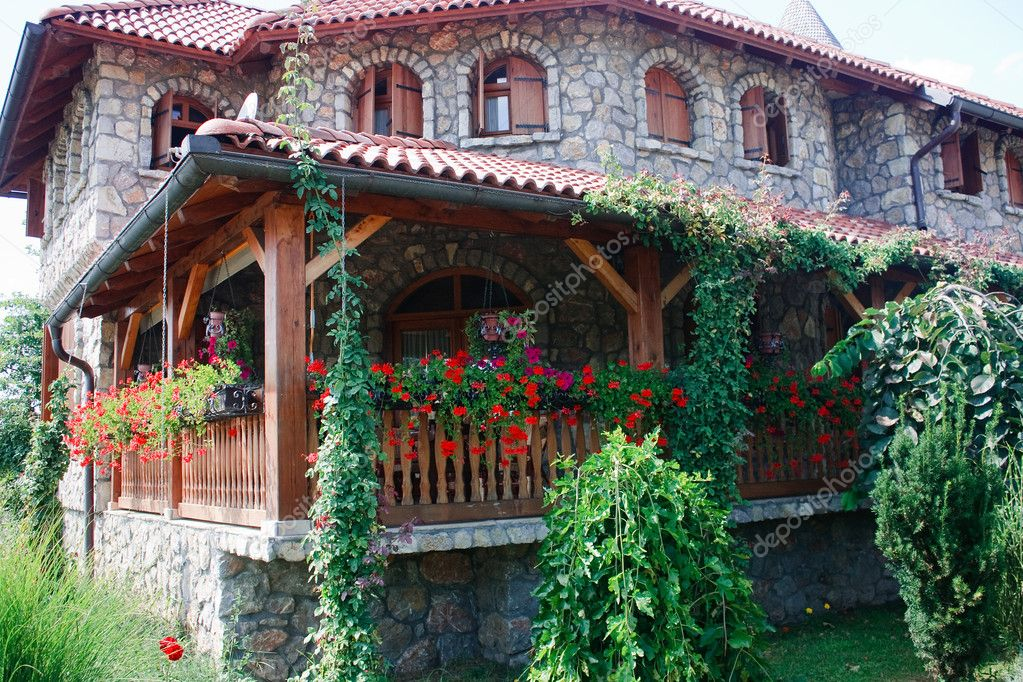 mountain house with flowers — stock photo © joycedragan #4157148