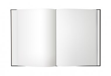 Blank Open Book isolated - XL