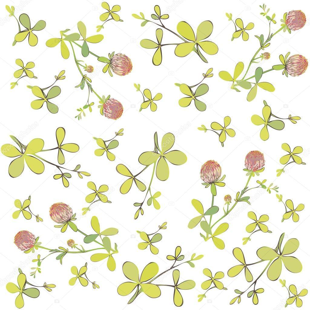 four leaf clover seamless background u2014 stock vector shameyeva