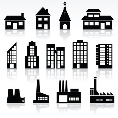 Vector set of various buildings stock vector