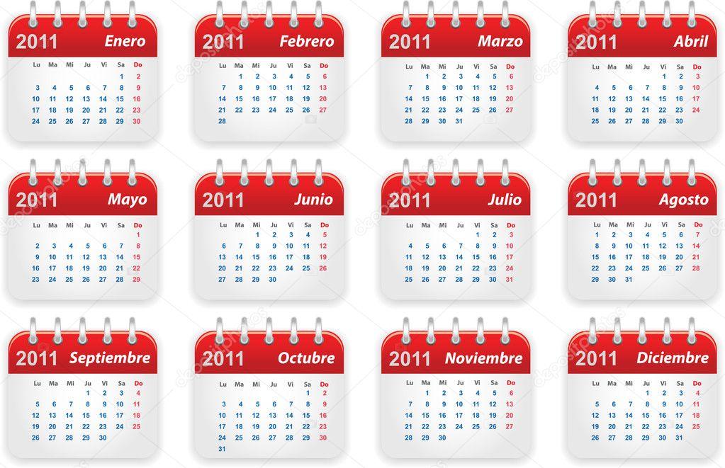 Calendario 2011 Espana.Calendario 2011 Archivo Imagenes Vectoriales C Dylanbz 4478389