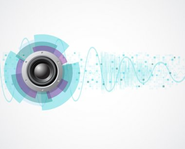 Eps10 music vector background with speaker and wave
