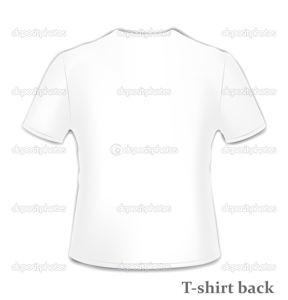 T-shirt back side — Stock Vector © DylanBZ #4810506