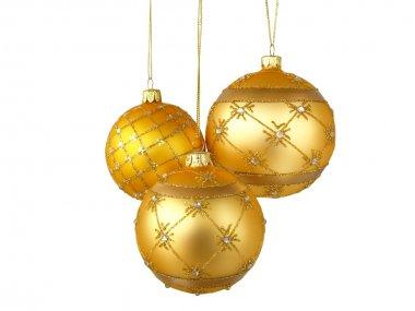 Three gold balls